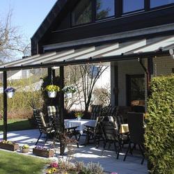 Terrassendach mit Rundrinne