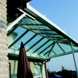 Terrassendach - Satteldach mit Krüppelwalm
