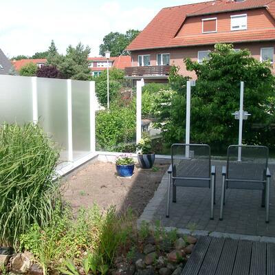 Windschutz aus Glas -Celle