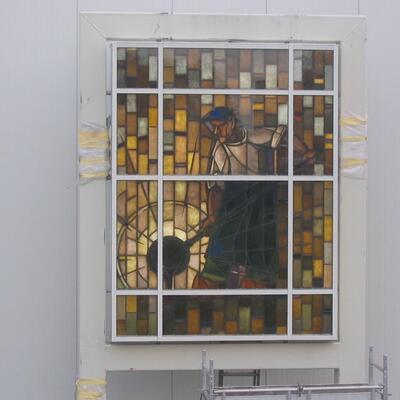 Bleiverglasung im Lichtkasten -Wuppertal