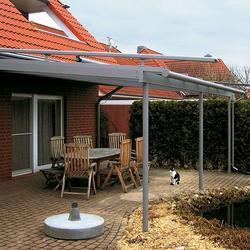 Terrassendach mit dachüberstand und Aufglasmarkise -Neustadt