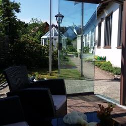 Blick aus dem Glashaus